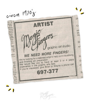 Magic Fingers Graphics | Advert from 1979