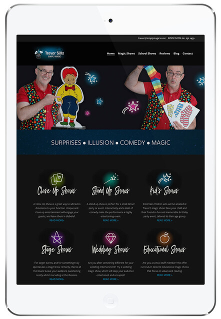 Trevor Sills - Simply Magic | Website design with Rocketspark