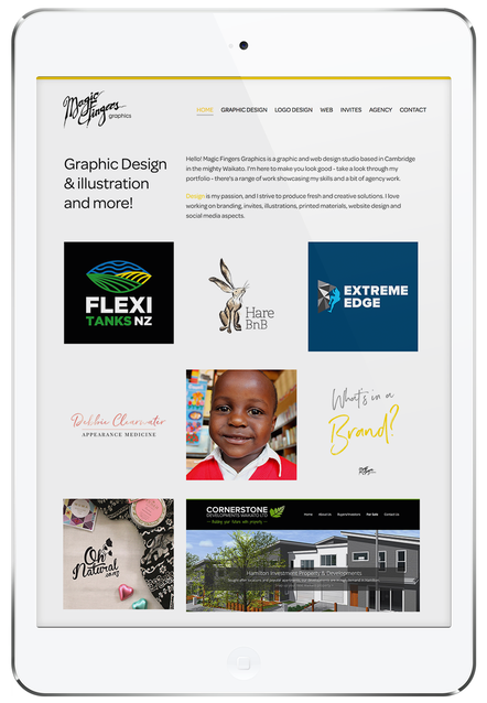 Magic Fingers Graphics | Website Design Partner with Rocketspark