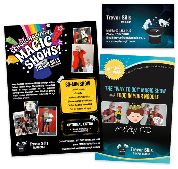 Trevor Sills - Simply Magic | Advertising Posters, CD Covers, Business Card Design