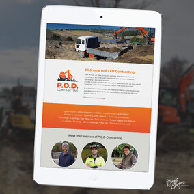Website design | P.O.D. Contracting | Hawke's Bay