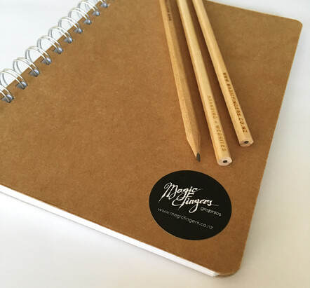 Magic Fingers Graphics | Branding with notebooks and pencils