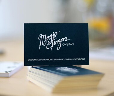 Magic Fingers Graphics | Business Card Design